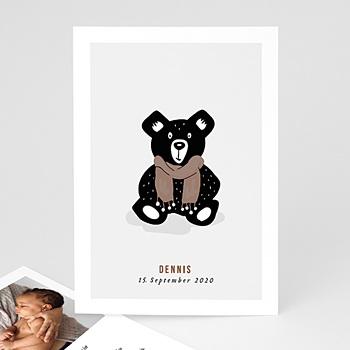 Geburtskarten mit Tiermotiven - Retro Bär - 0