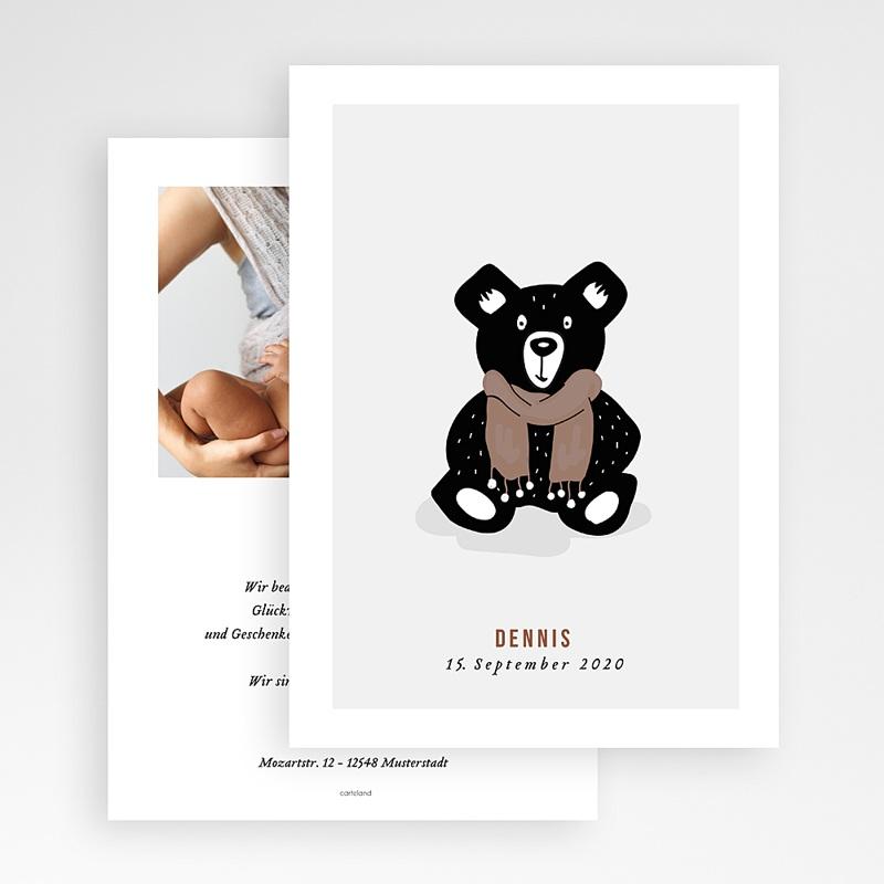 Geburtskarten mit Bär Retro Bär gratuit