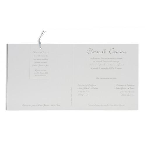 Hochzeitseinladungen traditionell - Silbergrau 7308 preview
