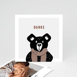 Danksagungskarten Geburt Retro-Bär