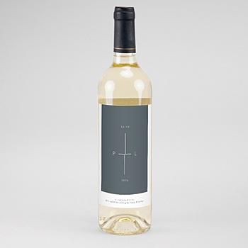 Flaschenetiketten Wein Mineralblau