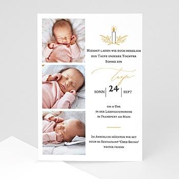 Einladungskarten Taufe Mädchen Licht