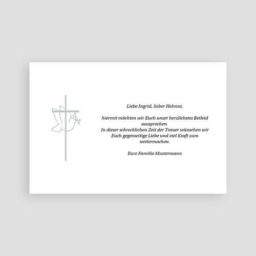 Christlich Dankeskarten Trauer Friedenstaube pas cher