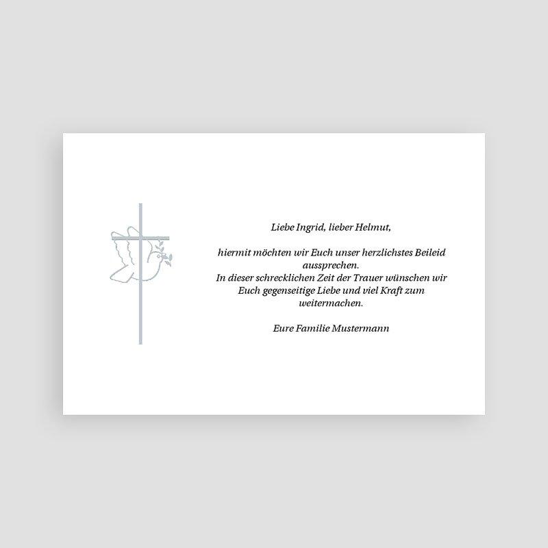 Trauer Danksagung christlich Friedenstaube pas cher