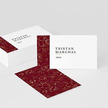 Tischnummer - Blumen Marsala - 0