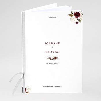 Kirchenheft zur Hochzeit individuell gestalten Blumen Marsala
