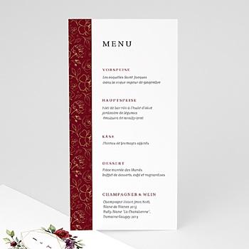 Menükarten Hochzeit - Blumen Marsala - 0
