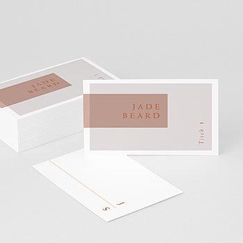 Tischkarten Hochzeit - Terracotta - 0