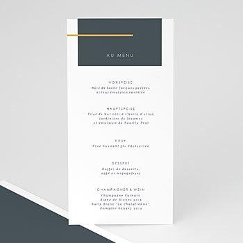 Menükarten Hochzeit - Mineralblau - 0