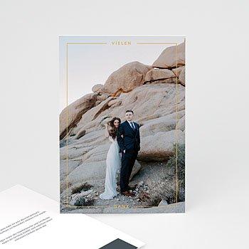 Stilvolle Danksagung Hochzeit - Mineralblau - 0
