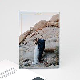 Danksagungskarten Hochzeit Mineralblau