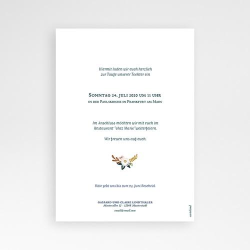 Einladungskarten Taufe für Mädchen Liberty Folk pas cher