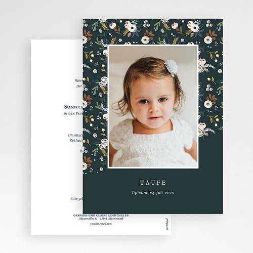 Einladungskarten Taufe für Mädchen Liberty Folk gratuit
