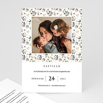 Einladungskarten Taufe Mädchen Liberty Kinfolk