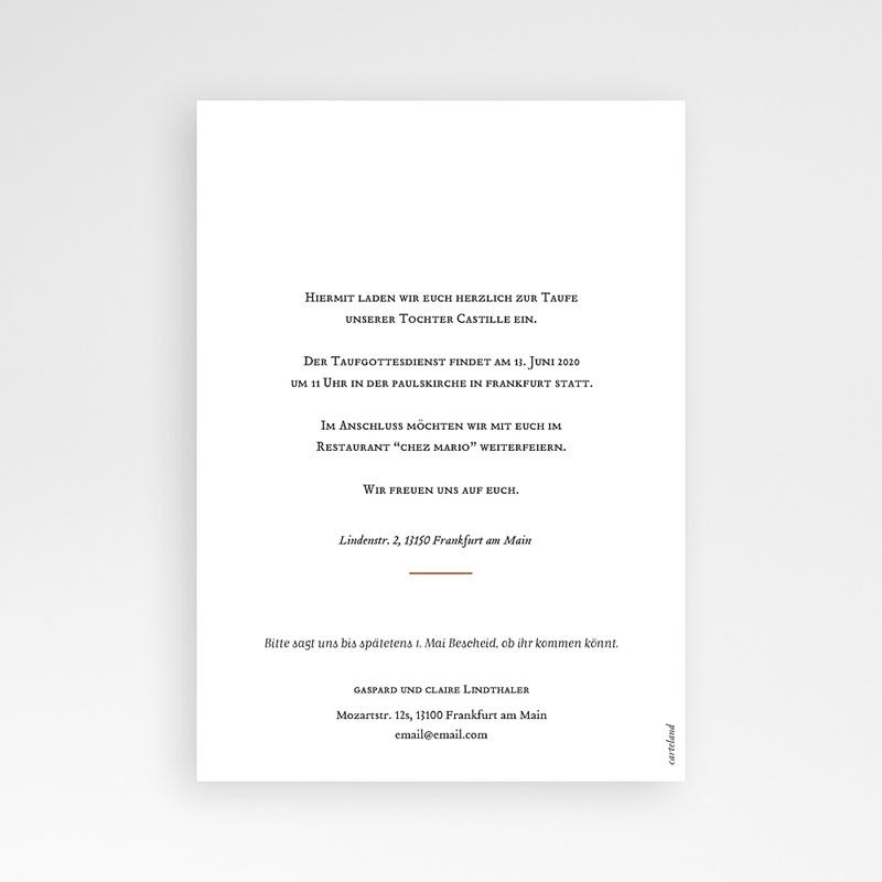 Einladungskarten Taufe für Mädchen Liberty Kinfolk pas cher