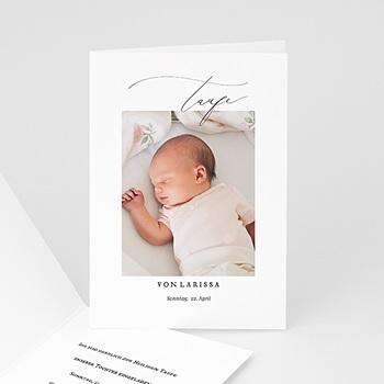 Einladungskarten Taufe Mädchen - Typo - 0