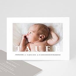 Einladungskarten Taufe Mädchen Grafisch