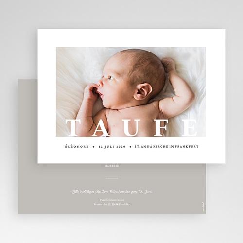 Einladungskarten Taufe für Mädchen Grafisch gratuit