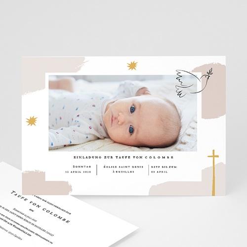 Einladungskarten Taufe Mädchen Artsy
