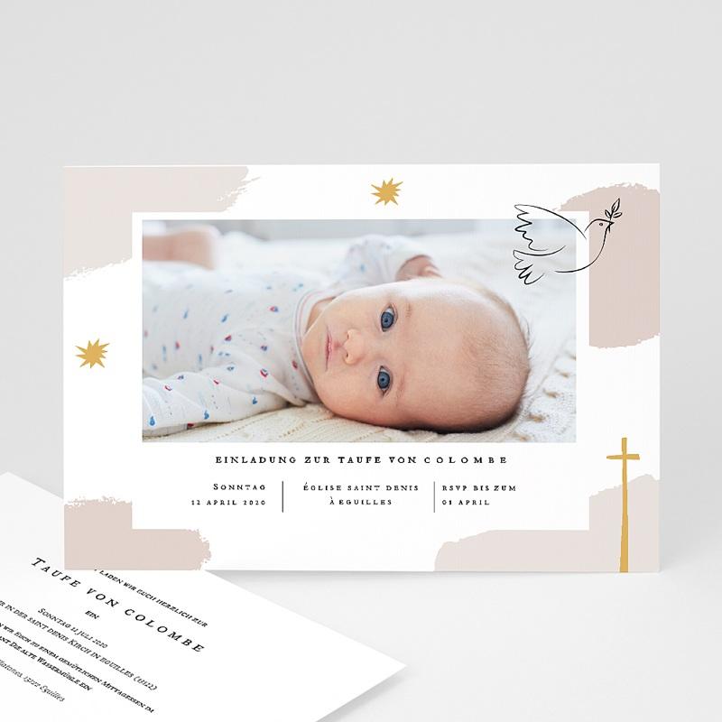 Einladungskarten Taufe für Mädchen Artsy