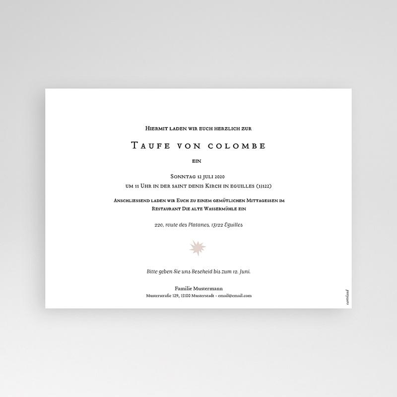 Einladungskarten Taufe für Mädchen Artsy pas cher