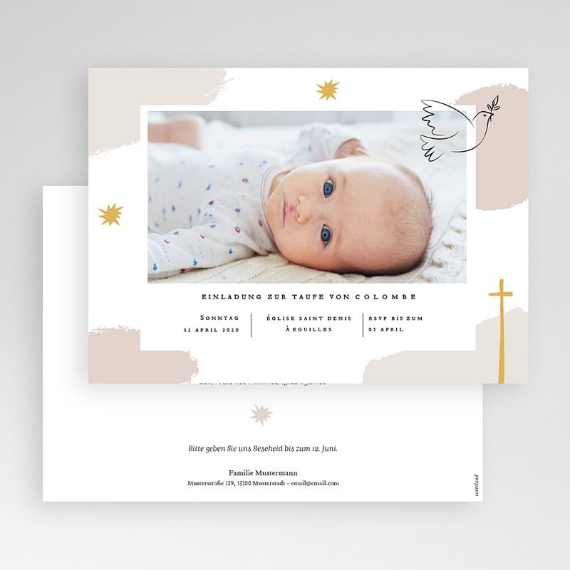 Einladungskarten Taufe für Mädchen Artsy gratuit