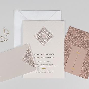 Orientalische Hochzeitskarten  - Maurischer stil - 0