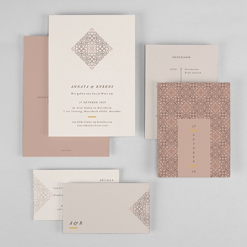 Hochzeitseinladungen Maurischer stil gratuit