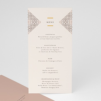 Menükarten Hochzeit - Maurischer stil - 0