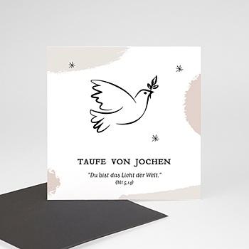 Dankeskarten Taufe Mädchen - Täubchen - 0