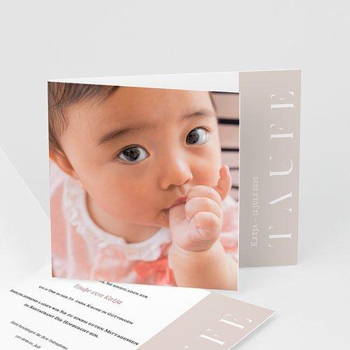 Einladungskarten Taufe für Mädchen Spielerisch