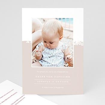 Einladungskarten Taufe mit Fotos - Brusch effekt - 0