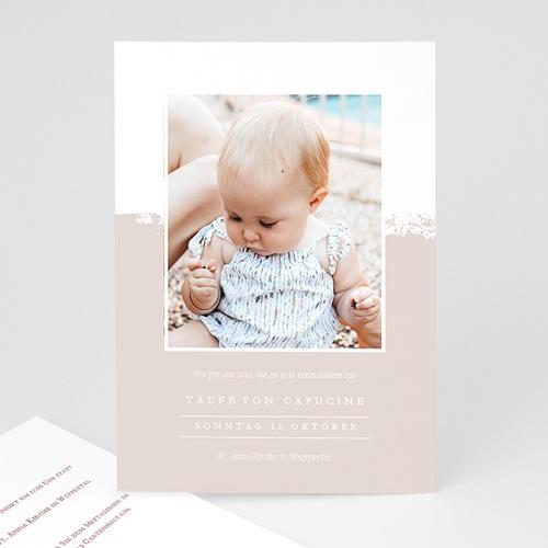 Einladungskarten Taufe mit Fotos Brusch effekt
