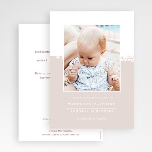 Einladungskarten Taufe mit Fotos Brusch effekt gratuit