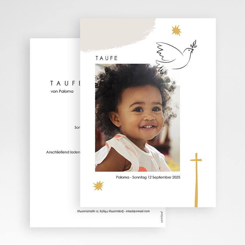 Religiös Einladungskarten Taufe Picasso stil gratuit