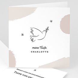 Karten Taufe Friedenstaube