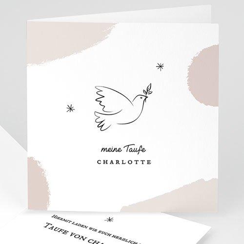Einladungskarten Taufe Für Mädchen Friedenstaube