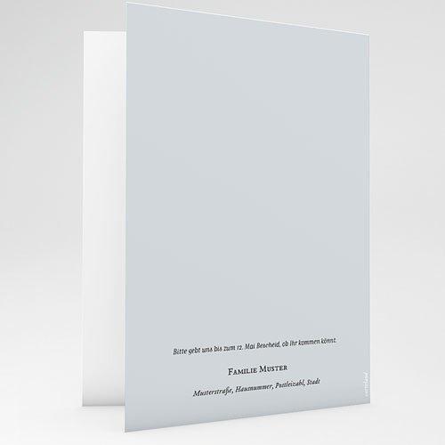 Einladungskarten Taufe mit Fotos Pulverblau gratuit