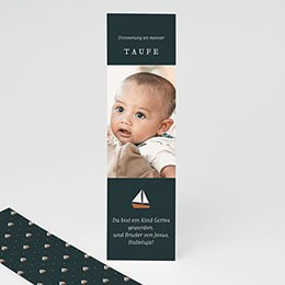 Taufe dankeskarten foto Kleines Boot