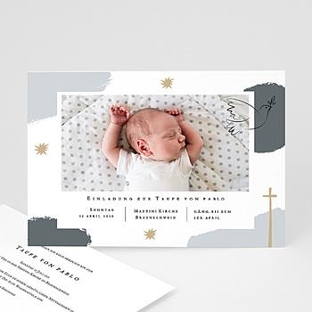 Einladungskarten Taufe Jungen  Artsy-Craftsy