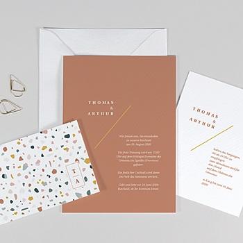 Kreative Hochzeitskarten - Terrazzo Gold - 0