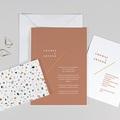 Kreative Hochzeitseinladungen Terrazzo Gold
