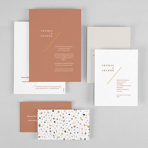 Kreative Hochzeitseinladungen Terrazzo Gold gratuit