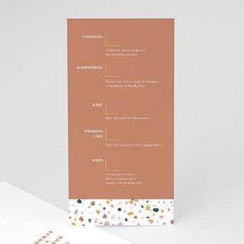 Menükarten Hochzeit - Terrazzo Gold - 0