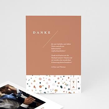 Kreative Dankeskarten Hochzeit  - Terrazzo Gold - 0