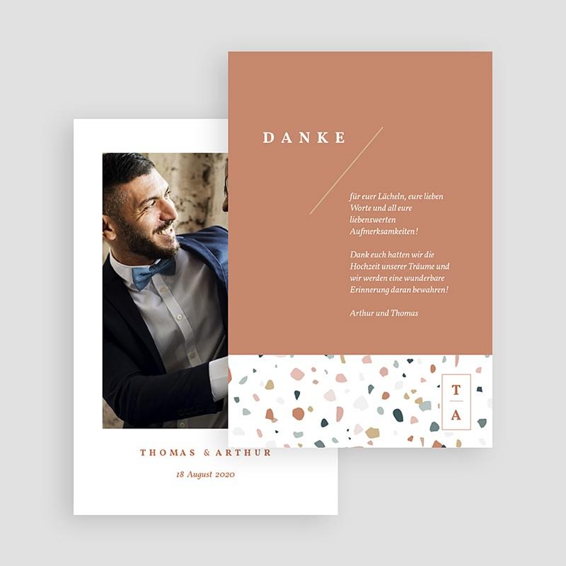 Kreative Dankeskarten Hochzeit Terrazzo Gold gratuit