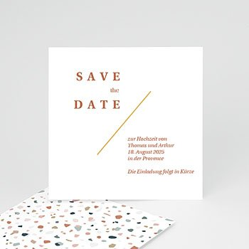 Save The Date  - Terrazzo Gold - 0