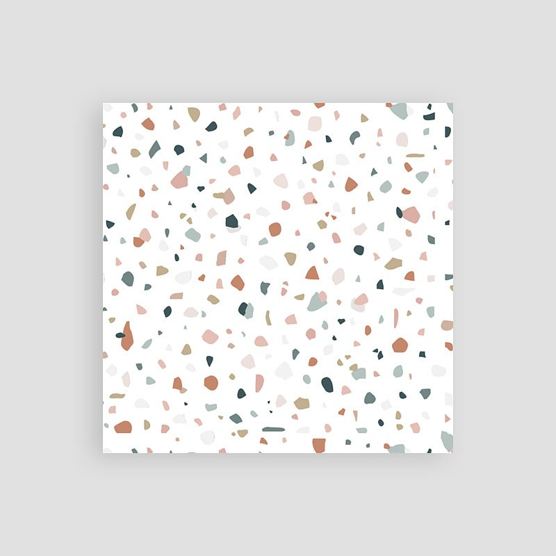 Save The Date Karten Hochzeit Terrazzo Gold, 10 x 10  pas cher