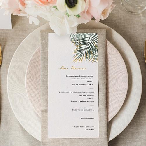 Menükarten Hochzeit Palm Springs gratuit