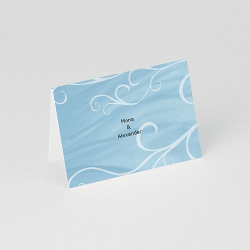 Tischkarten Taufe In Blau gratuit